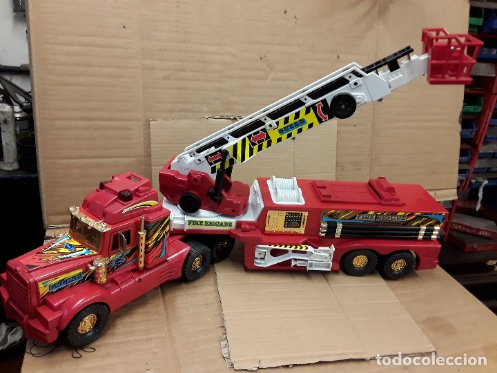 Juguetes antiguos Gozán: Camión bomberos gozan, 85 cms largo. - Foto 2 - 120003599
