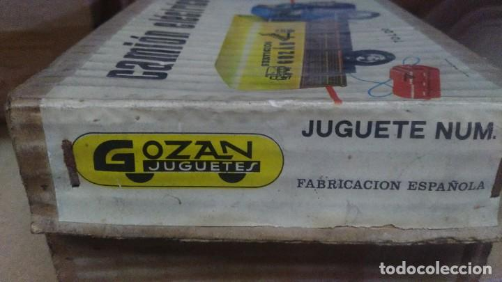Juguetes antiguos Gozán: ANTIGUA CAJA DE CAMION GOZAN CAMION ELECTRICO VOLQUETE Y TOLDO - Foto 7 - 121967651