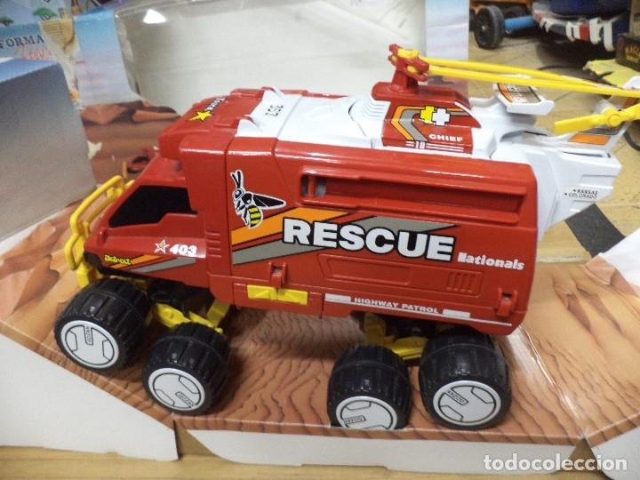 Juguetes antiguos Gozán: Camión todoterreno tranformable rescue.Gozán Made in Spain. - Foto 2 - 125851011