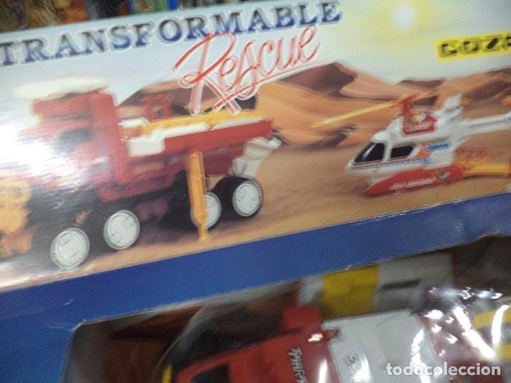 Juguetes antiguos Gozán: Camión todoterreno tranformable rescue.Gozán Made in Spain. - Foto 4 - 125851011