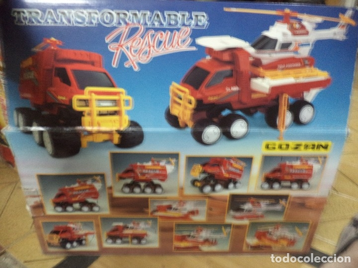 Juguetes antiguos Gozán: Camión todoterreno tranformable rescue.Gozán Made in Spain. - Foto 5 - 125851011