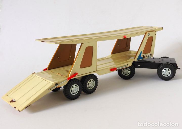 Juguetes antiguos Gozán: Lote Gozan años 70, Camión Bronco Bomberos Incendios y Trailer Portacoches - Foto 2 - 126016935