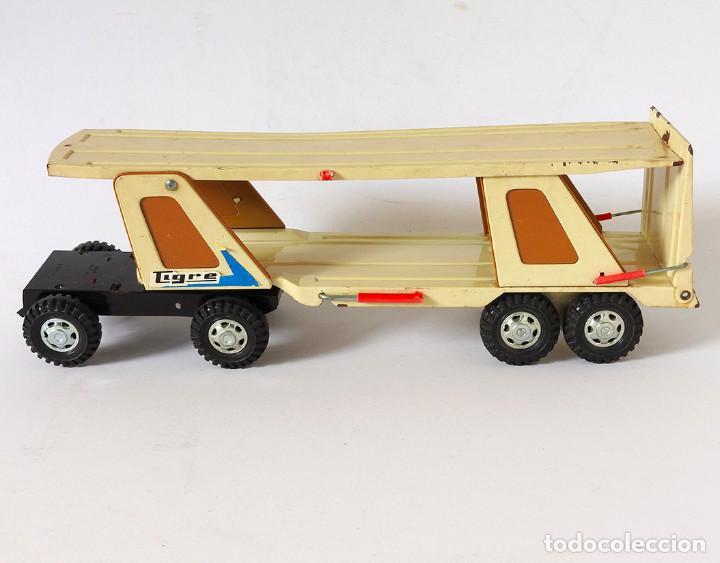 Juguetes antiguos Gozán: Lote Gozan años 70, Camión Bronco Bomberos Incendios y Trailer Portacoches - Foto 3 - 126016935