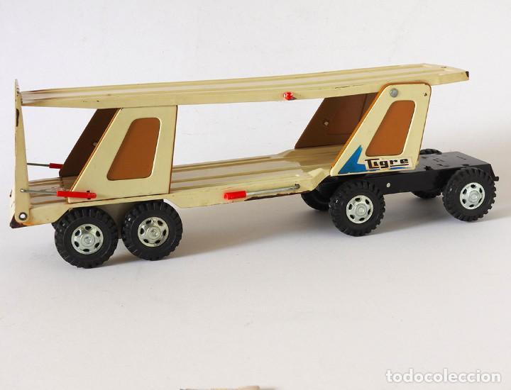 Juguetes antiguos Gozán: Lote Gozan años 70, Camión Bronco Bomberos Incendios y Trailer Portacoches - Foto 4 - 126016935
