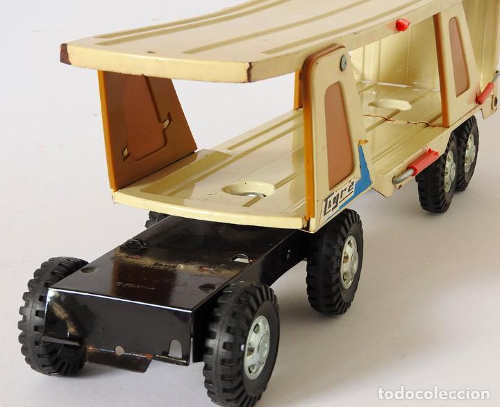 Juguetes antiguos Gozán: Lote Gozan años 70, Camión Bronco Bomberos Incendios y Trailer Portacoches - Foto 6 - 126016935