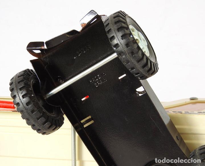 Juguetes antiguos Gozán: Lote Gozan años 70, Camión Bronco Bomberos Incendios y Trailer Portacoches - Foto 7 - 126016935