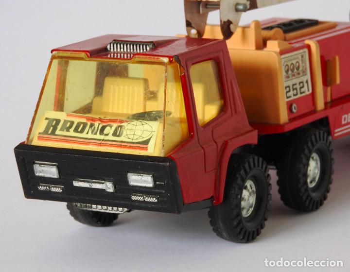 Juguetes antiguos Gozán: Lote Gozan años 70, Camión Bronco Bomberos Incendios y Trailer Portacoches - Foto 9 - 126016935