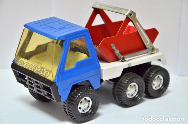 CAMIÓN COLOSO HOJALATA JUGUETE AÑOS 60 - 70 GOZAN ESPAÑA VINTAGE METAL (Spielzeug - Klassische Marken - Gozán)