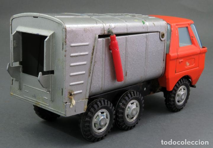 Juguetes antiguos Gozán: Gozán Coloso Camión basura metal y plástico años 80 - Foto 3 - 141660282