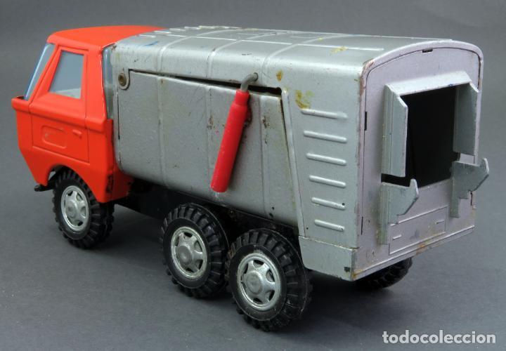 Juguetes antiguos Gozán: Gozán Coloso Camión basura metal y plástico años 80 - Foto 4 - 141660282