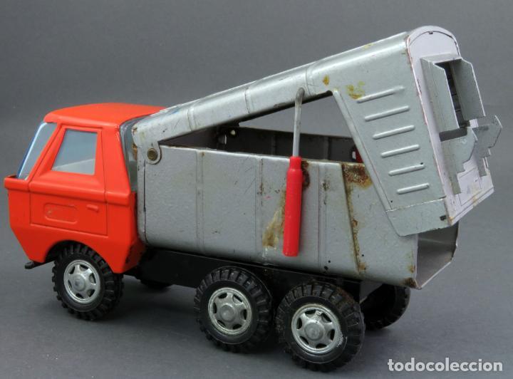 Juguetes antiguos Gozán: Gozán Coloso Camión basura metal y plástico años 80 - Foto 5 - 141660282