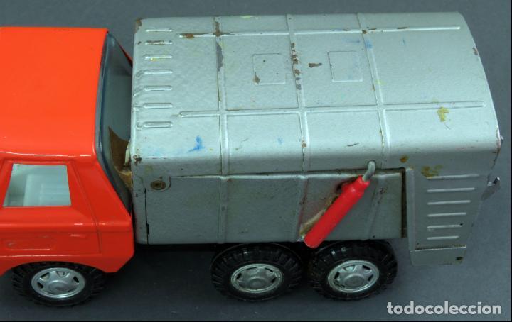 Juguetes antiguos Gozán: Gozán Coloso Camión basura metal y plástico años 80 - Foto 6 - 141660282