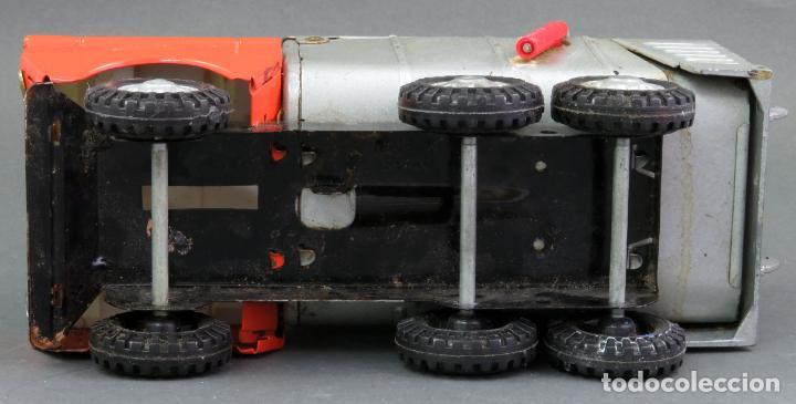 Juguetes antiguos Gozán: Gozán Coloso Camión basura metal y plástico años 80 - Foto 7 - 141660282