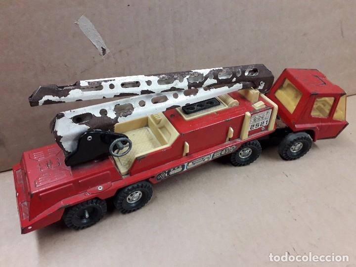 Juguetes antiguos Gozán: Gozan bronco, camion bomberos usado. - Foto 2 - 141685426