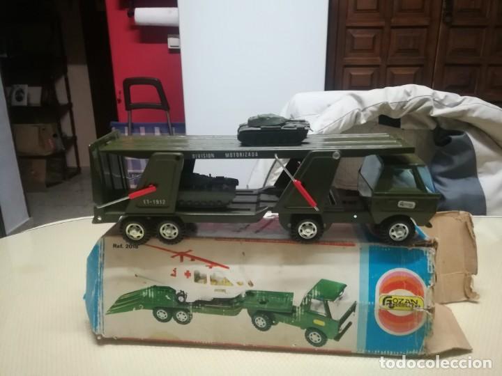 Juguetes antiguos Gozán: Antiguo camión de gozan militar en su caja miren fotos - Foto 15 - 146793070