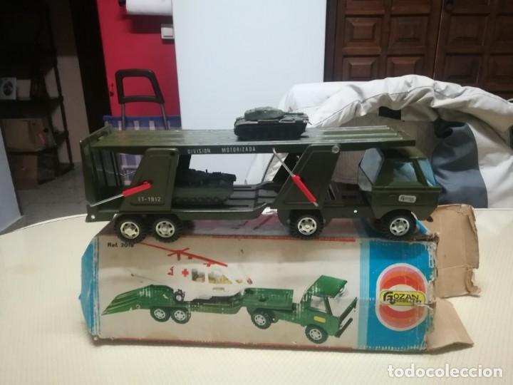 Juguetes antiguos Gozán: Antiguo camión de gozan militar en su caja miren fotos - Foto 17 - 146793070