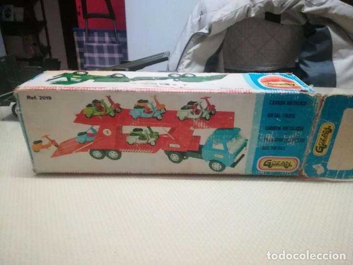 Juguetes antiguos Gozán: Antiguo camión de gozan militar en su caja miren fotos - Foto 24 - 146793070