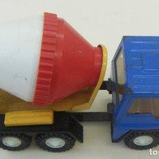 Brinquedos antigos Gozán: CAMIÓN HORMIGONERA GOZÁN SERIE FURIA METAL Y PLÁSTICO AÑOS 80. Lote 156965818