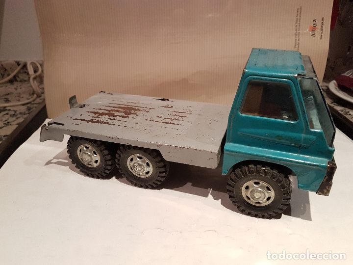 Juguetes antiguos Gozán: antiguo camion de gozan serie tigre porta contenedores ver fotos - Foto 2 - 173664534