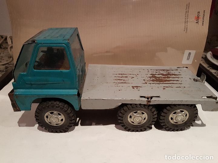 Juguetes antiguos Gozán: antiguo camion de gozan serie tigre porta contenedores ver fotos - Foto 4 - 173664534