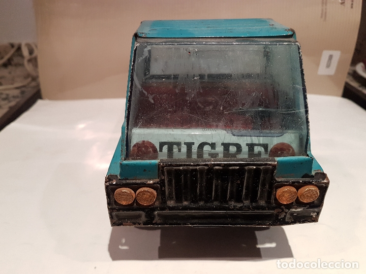 Juguetes antiguos Gozán: antiguo camion de gozan serie tigre porta contenedores ver fotos - Foto 5 - 173664534