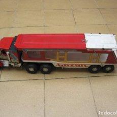 Brinquedos antigos Gozán: CAMIÓN PORTA COCHES DE LA CASA GOZAN AÑOS 70. Lote 177284159