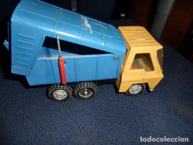 Juguetes antiguos Gozán: camion de lata metalico - gozan - made in spain - Foto 2 - 179098945
