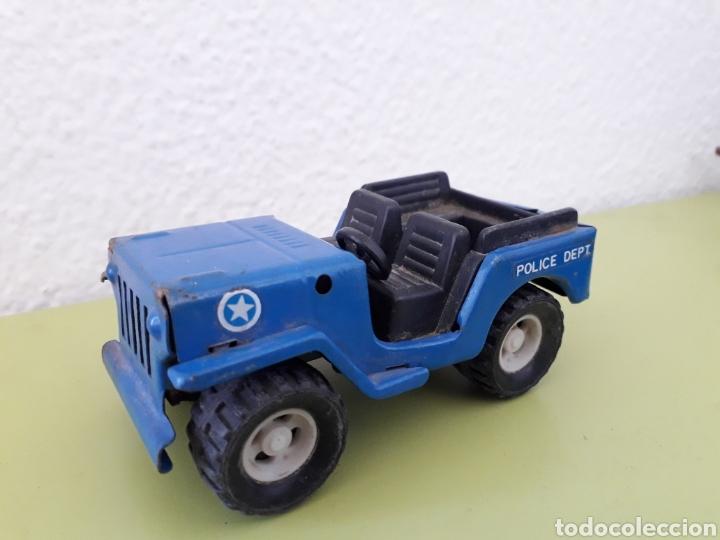 Juguetes antiguos Gozán: Jeep Gozan Made in Spain azul Policia - Foto 2 - 181026475