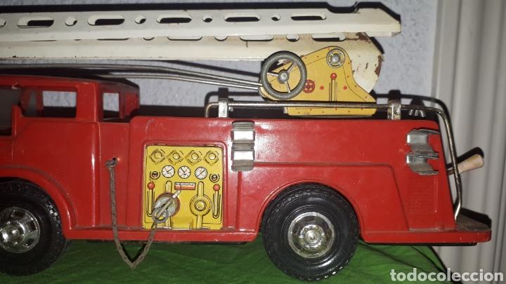 Juguetes antiguos Gozán: Antiguo camión de bomberos gozan años 60 - Foto 2 - 230321465