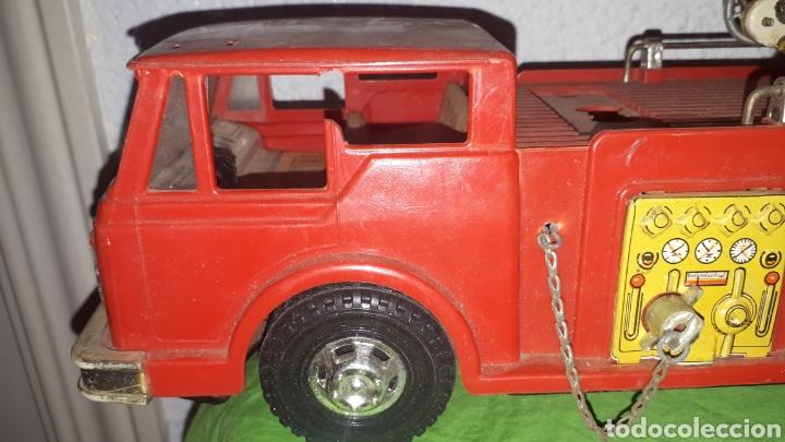 Juguetes antiguos Gozán: Antiguo camión de bomberos gozan años 60 - Foto 4 - 230321465