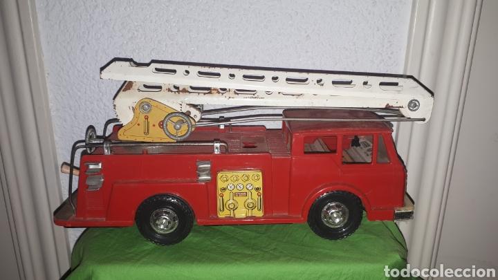 Juguetes antiguos Gozán: Antiguo camión de bomberos gozan años 60 - Foto 6 - 230321465