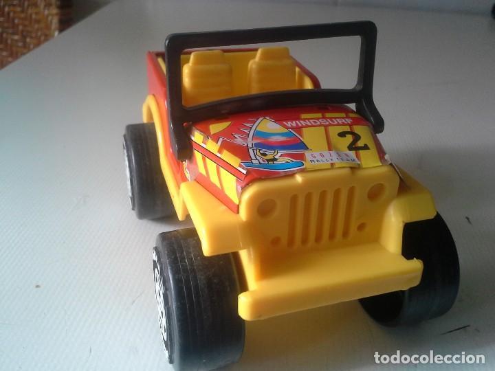 Juguetes antiguos Gozán: jeep rallye team de gozan hojalata y plastico - Foto 2 - 185755172
