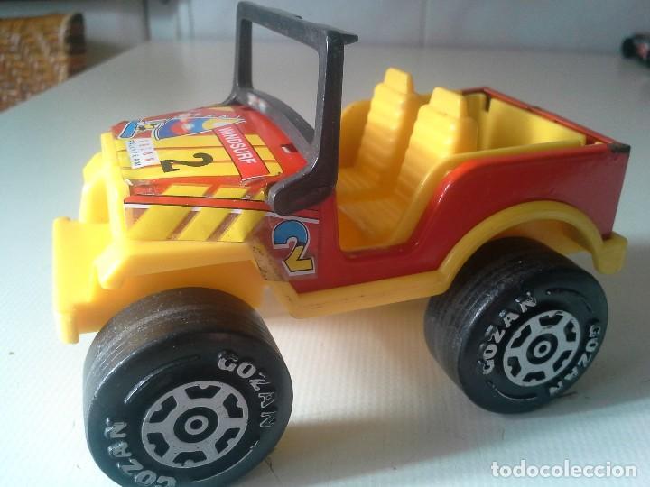 Juguetes antiguos Gozán: jeep rallye team de gozan hojalata y plastico - Foto 3 - 185755172