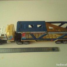 Brinquedos antigos Gozán: CAMION TRAILER GOZAN CON REMOLQUE ACS TEXACO PARA TRANSPORTAR COCHES GRANDE 40 CM. . Lote 191938620