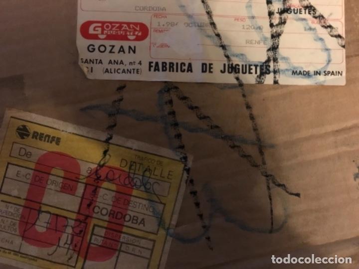 Juguetes antiguos Gozán: CAJA DE CARTON GOZAN PARA MERCANCIAS Y JUGUETES DE LA MARCA AÑOS 70 80 ALICANTE - Foto 6 - 204484746