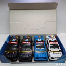 Juguetes antiguos Gozán: EXPOSITOR BLISTER CON 4 COCHES GOZAN FORD SIERRA. Lote 221605470