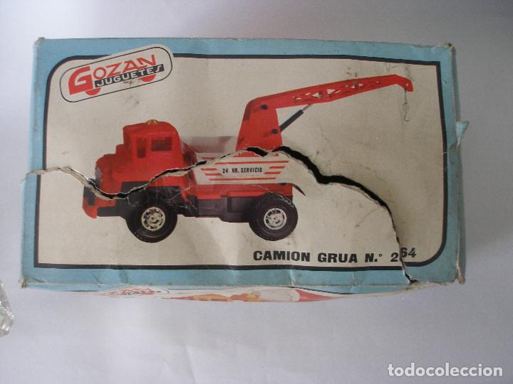 Juguetes antiguos Gozán: Camión hormigonera Gozan ( 24 cm ) nº 265 años 70 en caja sin uso - Foto 9 - 223908465