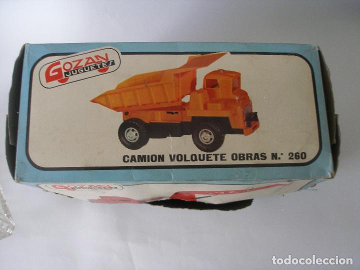 Juguetes antiguos Gozán: Camión hormigonera Gozan ( 24 cm ) nº 265 años 70 en caja sin uso - Foto 10 - 223908465