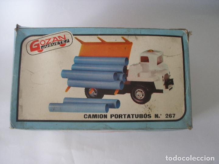 Juguetes antiguos Gozán: Camión hormigonera Gozan ( 24 cm ) nº 265 años 70 en caja sin uso - Foto 11 - 223908465