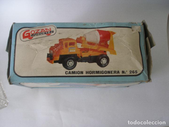 Juguetes antiguos Gozán: Camión hormigonera Gozan ( 24 cm ) nº 265 años 70 en caja sin uso - Foto 12 - 223908465