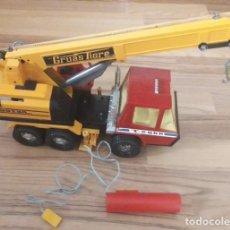 Brinquedos antigos Gozán: ANTIGUO CAMION. GRUAS TIGRE T-2000. GOZAN. AÑOS 70/80. ELECTRICO CON MANDO. FUNCIONA.. Lote 233502950