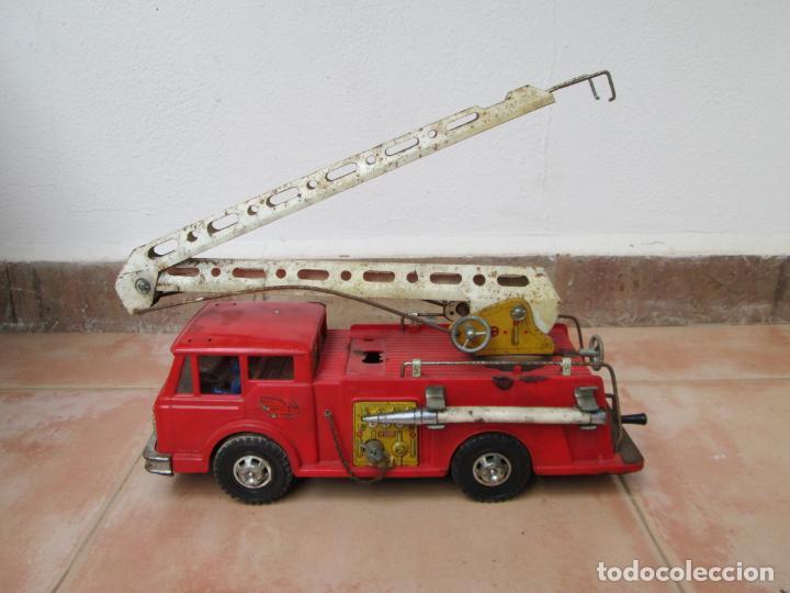 ANTIGUO CAMIÓN DE BOMBEROS DE GOZAN (Juguetes - Marcas Clásicas - Gozán)