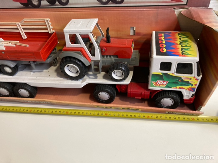 Juguetes antiguos Gozán: Camión Cobra Trak-Tor gozan con tractor - Foto 2 - 241165835