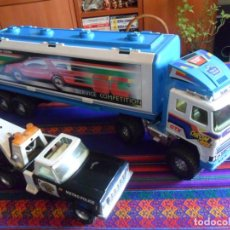Juguetes antiguos Gozán: CAMIÓN SUPERTRAILER 1X4 SERVICE COMPETITION GOZAN REGALO PICK UP GRÚA METÁLICO NYLINT TRAFFIC PATROL. Lote 244887125