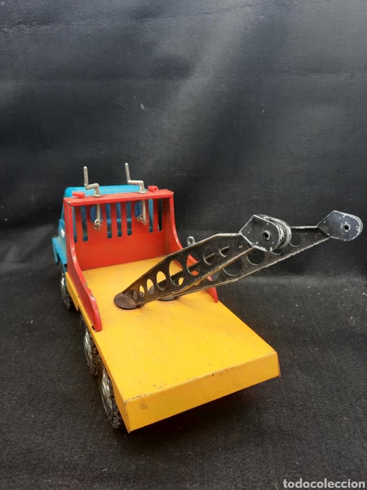 Juguetes antiguos Gozán: Antiguo camión grúa Tigre de gozán - Foto 6 - 255994595