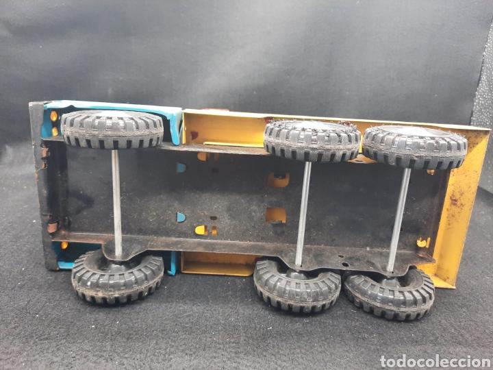 Juguetes antiguos Gozán: Antiguo camión grúa Tigre de gozán - Foto 7 - 255994595