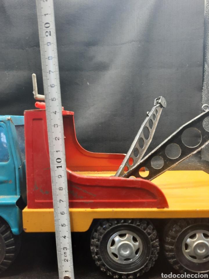 Juguetes antiguos Gozán: Antiguo camión grúa Tigre de gozán - Foto 11 - 255994595