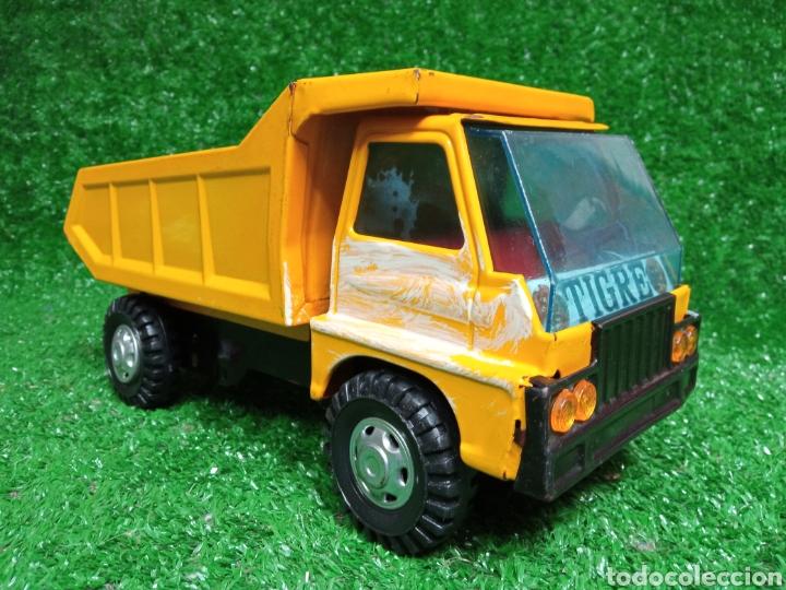Juguetes antiguos Gozán: Camion chapa Tigre de Gozan volquete dumper made in Spain - Foto 2 - 257403505