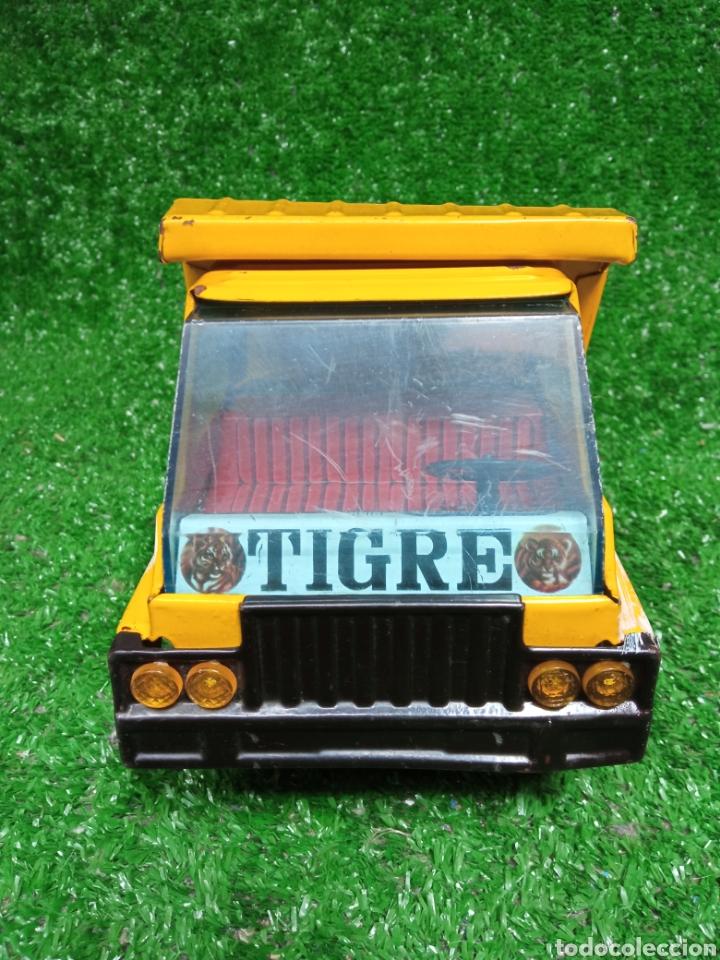 Juguetes antiguos Gozán: Camion chapa Tigre de Gozan volquete dumper made in Spain - Foto 3 - 257403505
