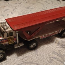 Juguetes antiguos Gozán: CAMION TRAILER DE COCHES, 10 SUPER BOSS, MIGHTY TRANS, TIGER TEAM, BANDIT ROAD, SHELL (GOZAN). Lote 269006759